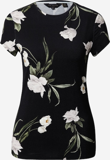 Ted Baker Shirt 'Oliee' in de kleur Olijfgroen / Zwart / Wit, Productweergave