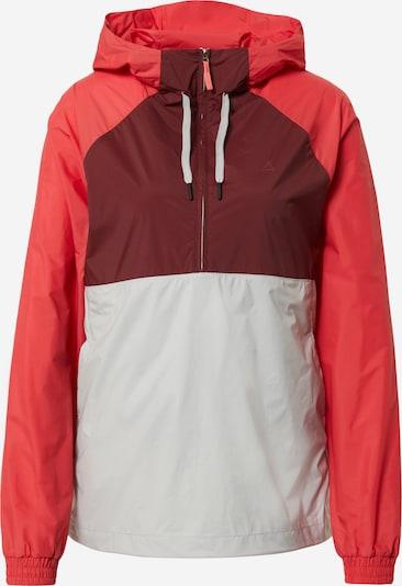 Sportinė striukė 'Portland' iš Schöffel , spalva - šviesiai pilka / kraujo spalva / melionų spalva, Prekių apžvalga