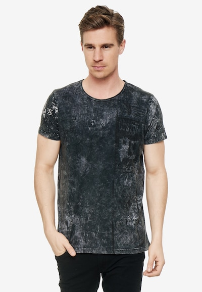 Rusty Neal T-Shirt mit modernem Front & Back Print in grau: Frontalansicht