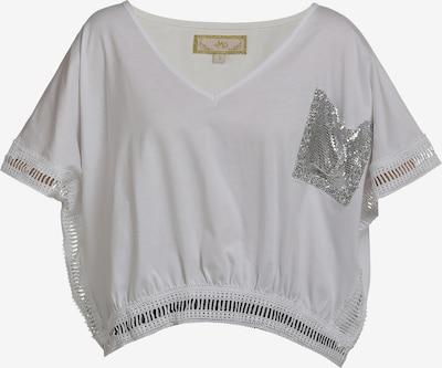 MYMO Shirt in silber / weiß, Produktansicht