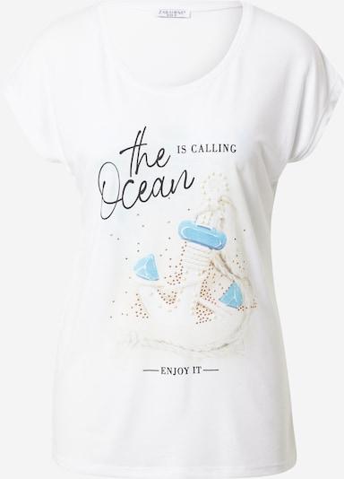 ZABAIONE T-shirt 'Mira' en mélange de couleurs / blanc, Vue avec produit