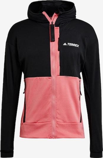 adidas Terrex Veste en polaire fonctionnelle en rose ancienne / noir, Vue avec produit