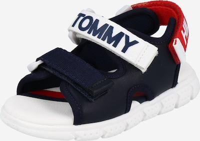 TOMMY HILFIGER Otvorene cipele 'VELCRO' u mornarsko plava / crvena / bijela, Pregled proizvoda