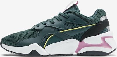 PUMA Sneaker 'Nova' in gelb / dunkelgrün / hellpink / weiß, Produktansicht