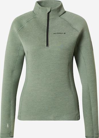 JACK WOLFSKIN - Jersey deportivo 'ATHLETIC' en verde