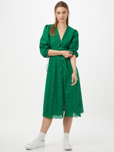 Rochie tip bluză IVY & OAK pe verde, Vizualizare model