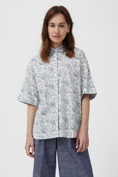 Finn Flare Kurzarm-Bluse in weiß, Modelansicht