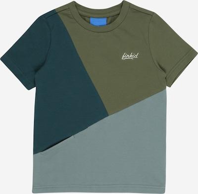 FINKID T-Shirt 'ANKKURI' en kaki / émeraude / vert pastel / blanc, Vue avec produit