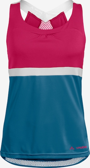 VAUDE Sports Top 'Advanced' in Sky blue / Pink / White, Item view