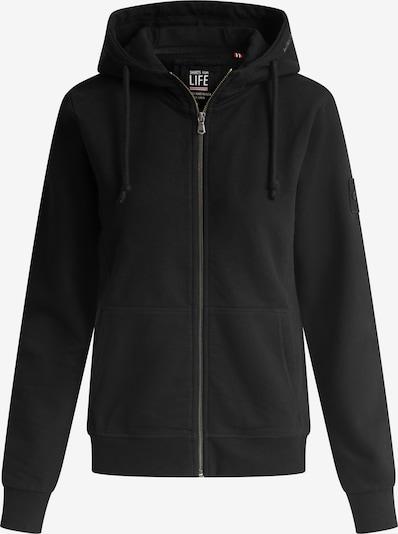 Shirts for Life Sweatjacke 'Lea' in schwarz, Produktansicht