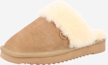 MUSTANG Slippers in Beige