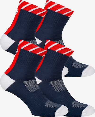 Champion Authentic Athletic Apparel Mid Crew Sportsocken ' 4er-Pack Performance ' in navy / rot / weiß, Produktansicht