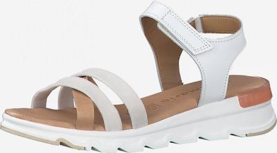 TAMARIS Páskové sandály - světle béžová / bílá, Produkt