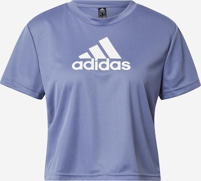 ADIDAS PERFORMANCE Sportshirt in dunkellila / weiß, Produktansicht