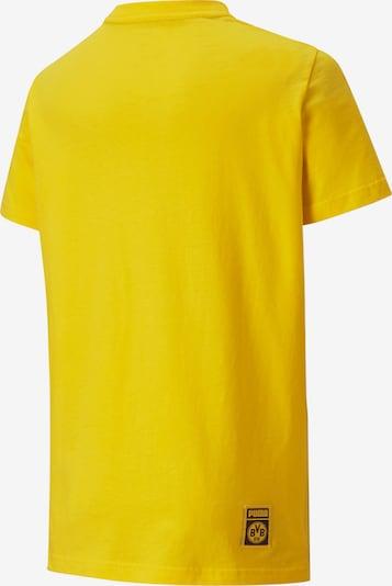 PUMA T-Shirt in gelb / schwarz: Frontalansicht