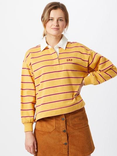 GAP Pull-over 'RUGBY' en jaune / violet / blanc: Vue de face