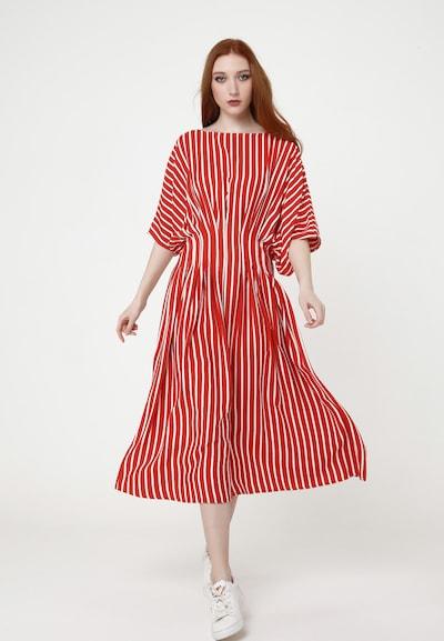 Madam-T Sommerkleid 'KVINTA' in rot / weiß, Modelansicht