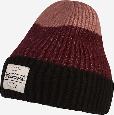 NAME IT Mütze 'MOSS' in altrosa / rotviolett / schwarz / weiß, Produktansicht