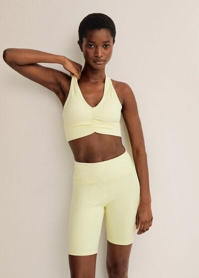 MANGO Shorts in gelb, Modelansicht