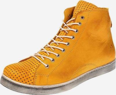 ANDREA CONTI Sneakers hoog in de kleur Geel / Grijs / Wit, Productweergave