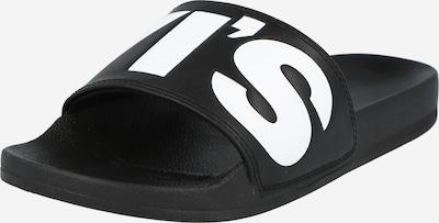 LEVI'S Muiltjes 'June' in de kleur Zwart / Wit, Productweergave