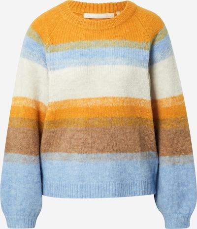 KAREN BY SIMONSEN Pullover 'Inca' in hellblau / braun / gelb / weiß, Produktansicht