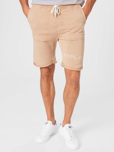 REPLAY Shorts in cappuccino / hellbraun, Modelansicht