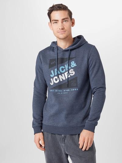 Megztinis be užsegimo 'Defender' iš JACK & JONES , spalva - margai mėlyna / juoda / balta: Vaizdas iš priekio
