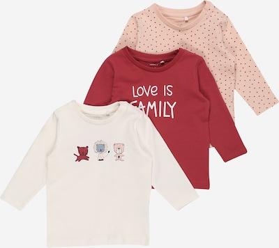NAME IT Shirt 'TESINE' in pfirsich / hummer / grenadine / naturweiß, Produktansicht