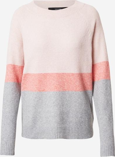 VERO MODA Jersey 'DOFFY' en gris / rosa / rojo claro, Vista del producto