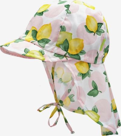 Căciulă MAXIMO pe galben citron / verde / verde măr / roz pastel / alb, Vizualizare produs