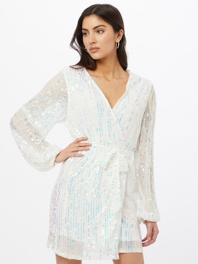 CLUB L LONDON Šaty - tyrkysová / biela: Pohľad spredu