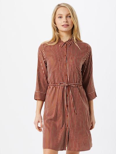 ONLY Blusenkleid in braun / weiß, Modelansicht