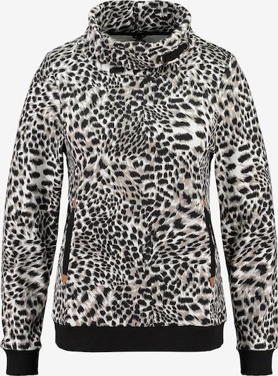 Key Largo Sweatshirt 'PEPPER' in de kleur Lichtbruin / Greige / Zwart / Wit, Productweergave