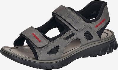 RIEKER Sandały trekkingowe w kolorze ciemnoszary / czarnym, Podgląd produktu