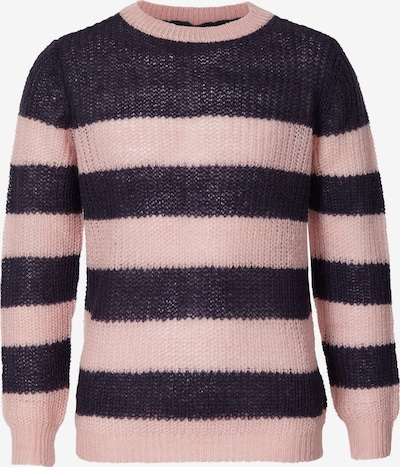 Petrol Industries Pullover in navy / hellpink: Frontalansicht