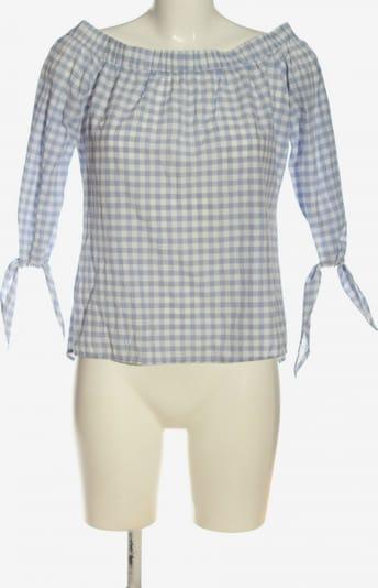 MANGO Carmen-Bluse in S in blau / weiß, Produktansicht