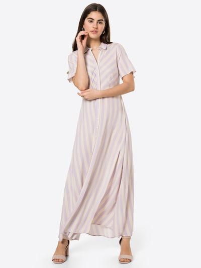 Y.A.S Robe-chemise 'SAVANNA' en crème / violet clair, Vue avec modèle