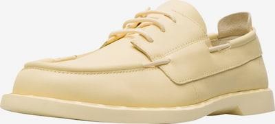 CAMPER Chaussure à lacets ' Juddie ' en jaune clair, Vue avec produit