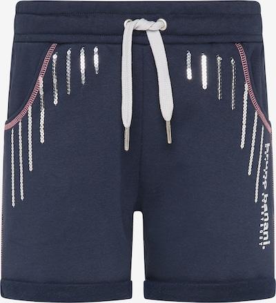 BRUNO BANANI Pantalon en marine / argent / blanc, Vue avec produit