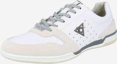 bugatti Chaussure de sport à lacets en anthracite / blanc / blanc cassé, Vue avec produit