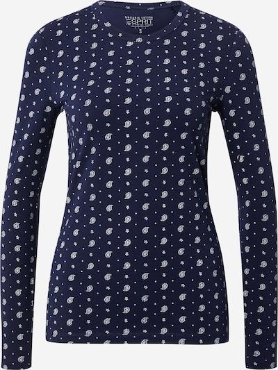 Tricou Esprit Curves pe bleumarin / alb, Vizualizare produs