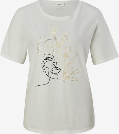 s.Oliver BLACK LABEL Shirt in gold / schwarz / weiß, Produktansicht