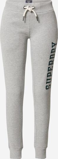 Pantaloni Superdry pe gri / negru, Vizualizare produs