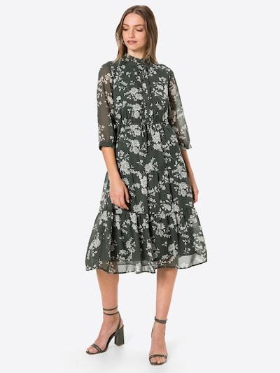 Rochie tip bluză 'DINO' VERO MODA pe gri / verde închis, Vizualizare model