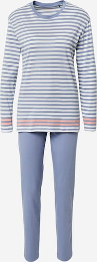 SCHIESSER Pyjama in rauchblau / hellorange / weiß, Produktansicht