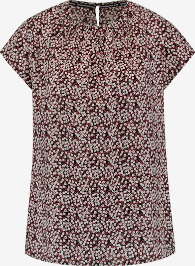 TAIFUN Bluse in mischfarben / dunkelrot, Produktansicht