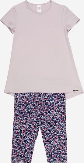 Skiny Pyjama in dunkelblau / helllila / pink, Produktansicht
