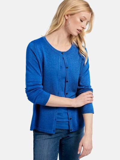 Basler Strickjacke in blau, Modelansicht