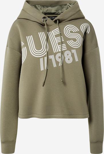 GUESS Sweatshirt i oliven / hvid, Produktvisning